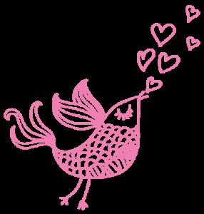 Combinique-Reclame-Vogeltje-roze